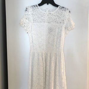 Brand new white lace Aqua dress